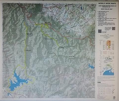 Lake Manchester 25k Topo - Bush Walks Map