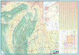 Myanmar Burma - Folded Map