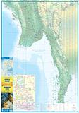Myanmar Burma - Folded Map