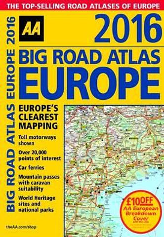 Europe - AA Big Road Atlas - Spiral - A3 Size