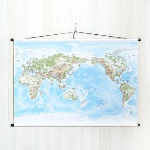 World Wall Map on Canvas - Medium Size