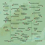 The Cotswolds - Walkers Map by AA