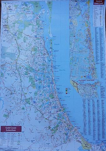Gold Coast - Suburban Wall Map