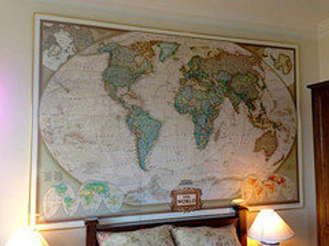 World mural map antique look by national geographic world wide maps world mural map antique look by national geographic gumiabroncs Gallery