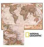 World Mural Map - Antique look by National Geographic
