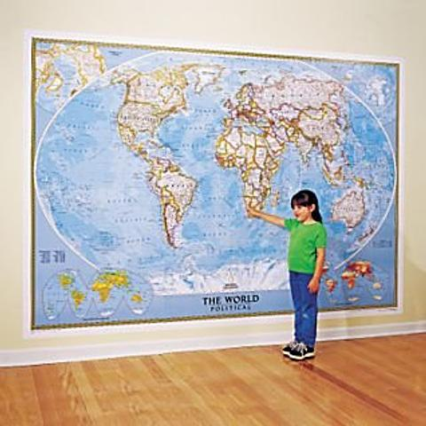 World Mural Map - by National Geographic