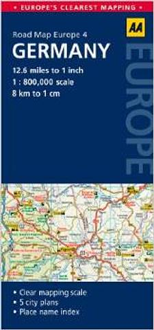Germany - AA Road Map Europe 4