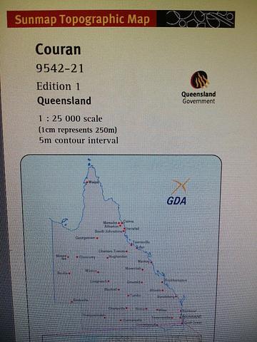 Couran - 25k  Topo Map