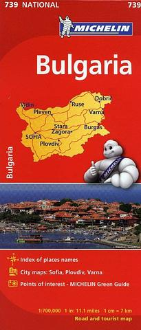 Bulgaria - Michelin map