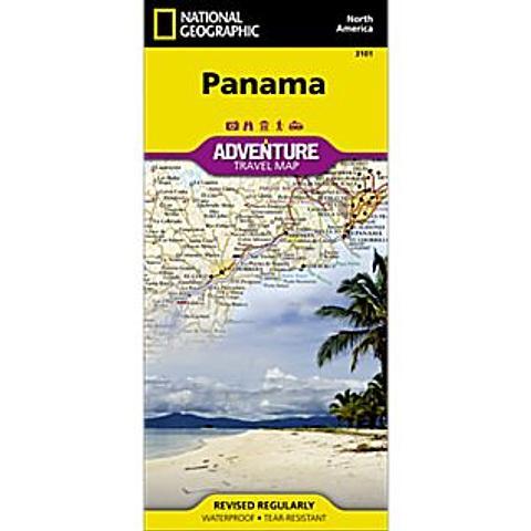 Panama Adventure Map - Nat Geo