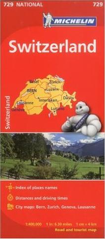 Switzerland - Folded Map by Michelin
