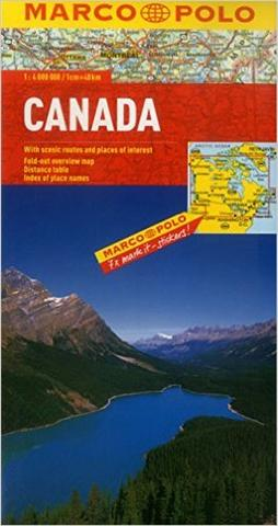 Canada - Folded map by Marco Polo