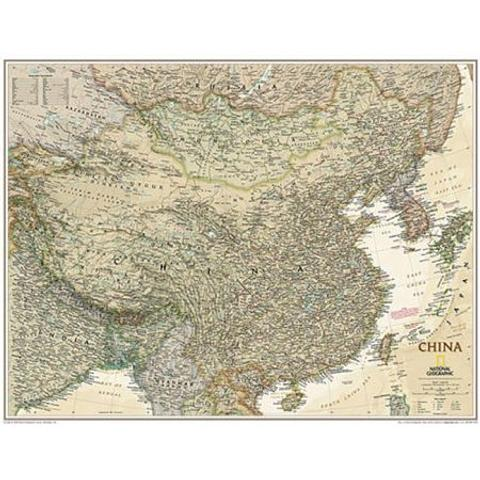 China - Wall Map by National Geographic