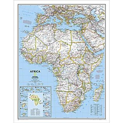 Africa Wall Map - by National Geographic