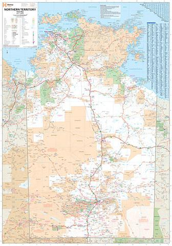 Northern Territory Wall Map