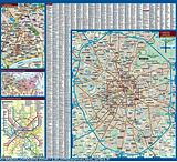 Moscow - Borch folded laminated map