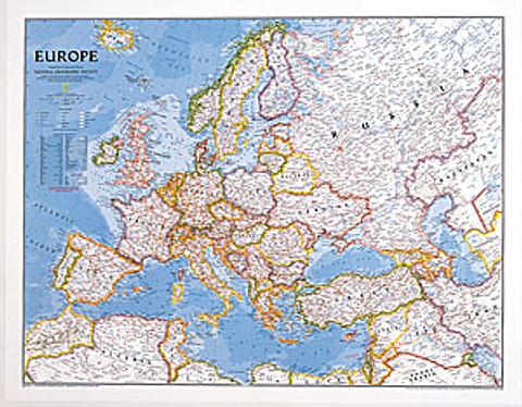 Europe Wall Map - Unlaminated - National Geographic