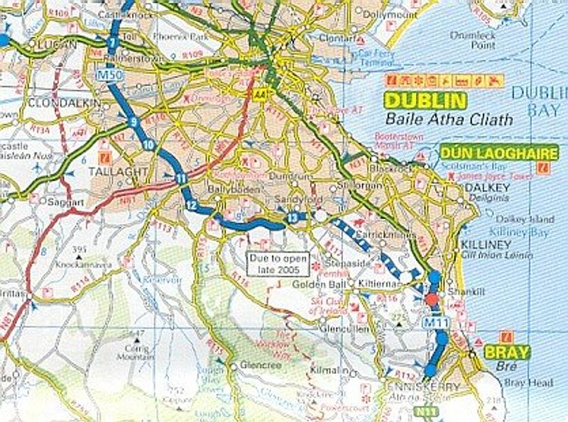 Detailed Road Map Of Ireland.Ireland Aa Road Map World Wide Maps