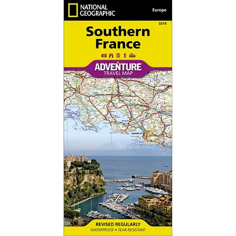 France - Southern France National Geographic Map