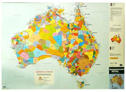 Aboriginal Australia, Indigenous Australia - Wall Map