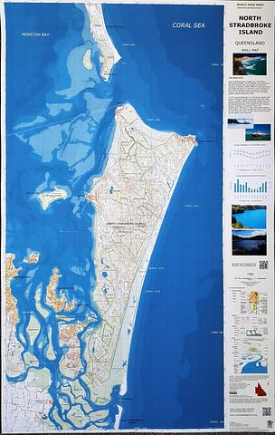North Stradbroke Island - Straddie - Wall Map