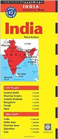 India - Country Map by Periplus Travel Maps