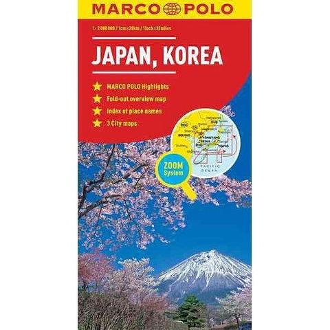 Japan, Korea - Folded Map