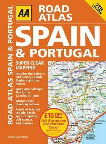 Spain and Portugal Road Atlas - AA