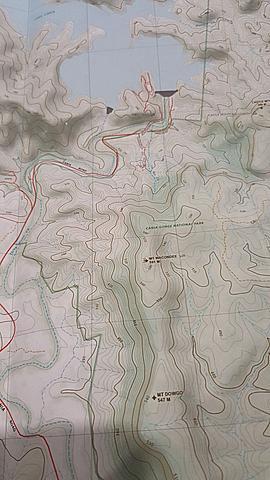 Cania Gorge - Topo Map 25k