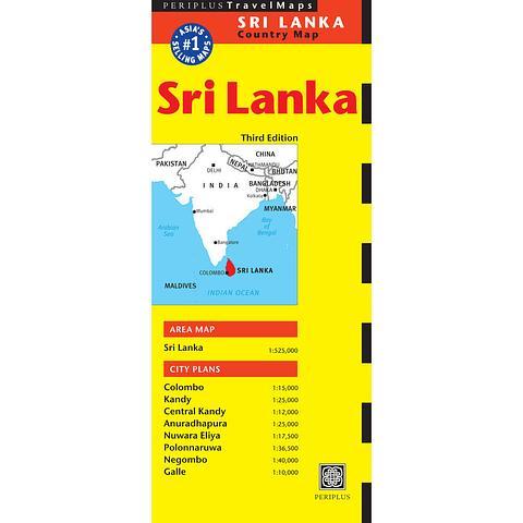 Sri Lanka - folded map by Periplus