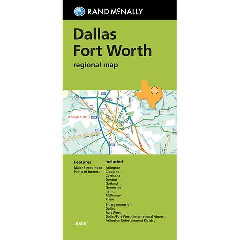 Dallas Fort Worth - Regional Map by Rand McNally