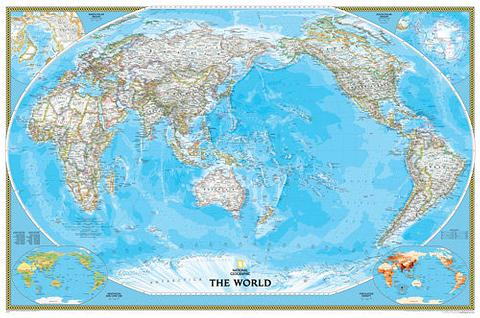 World Wall Map - Classic Style by National Geographic