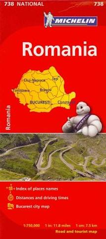 Romania - folded map by Michelin