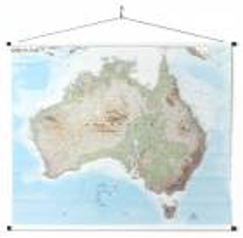 Australia - Canvas Wall Map