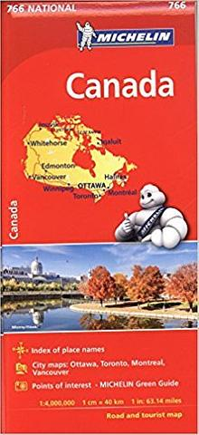 Canada - folded map by Michelin